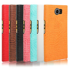 Premium Vintage PU Leather Crocodile Pattern Back Case Cover for Blackberry Priv