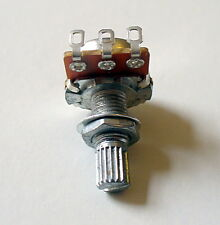 Guitar Potentiometers Type A or B, 250k or 500k 18mm x 6mm Splined Shaft UK