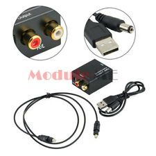 Digital 3.5mm Optical Coaxial Toslink to Analog Audio Convert Adapter RCA L/R UK