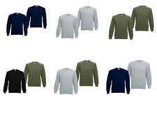 2er Fruit of The Loom Herren Raglan Sweatshirt Sweater S-M-L-XL-XXL