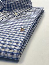 Ralph Lauren Blue/white Check Short Sleeves Oxford Shirt