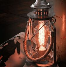 Vintage Retro Industrial Table, Desk Lamp, Light, Glass Candle Antique Style New