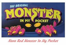 Monster in my Pocket - Series 1 - Mini Figure MIMP Matchbox MEG - Neon Red