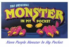 Monster in my Pocket - Series 1 - Mini Figure MIMP Matchbox MEG - Neon Purple