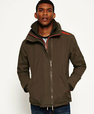 Neue Herren Superdry  Technical Pop Zip Windcheater-Jacke Army