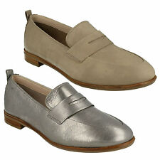 ALANIA BELLE LADIES CLARKS SLIP ON LEATHER  FLAT MOCCASIN LOAFERS CASUAL SHOES