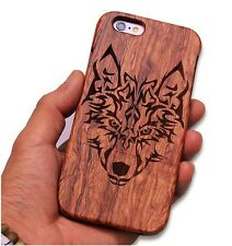 Real Bamboo Wooden Carving Wood Back case Cover for Apple iPhone 6S