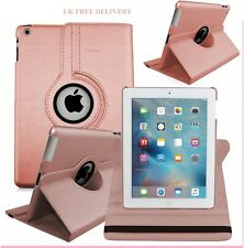 Rose Gold Leather 360° Rotating Smart Stand Case Cover For APPLE iPad Air4/3/2,