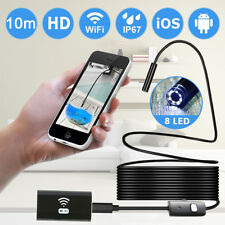 8MM WIFI Waterproof Endoscope Borescope Inspection camera for Andriod Iphone IT