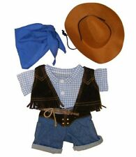 Cowboy w/Hat and Scarf Outfit Teddy Bear Clothes Fit 14