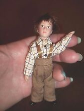 PORCELAIN LITTLE  BOY - POSEABLE - DOLL HOUSE MINIATURE