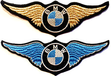 BMW aille. 11,5x4. Patch écusson thermocollant patch aufnäher toppa embroided.
