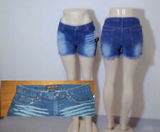 Route 66 Women's Denim Blue Jean Low Rise Shorts - Distress - NWT