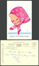 MABEL LUCIE ATTWELL Old Postcard Swanky Wiv' Farver's Handky Little Girl No.4239