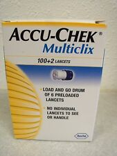 Accu-Chek Multiclix 100+2 Lancets New in Box 8/2019