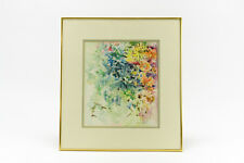 Watercolor, Abstract, Flowers, Artist Ruth Klein, Signed by Artist