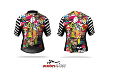 PISSEI MAGLIA JERSEY CARTOON BIKE CICLISMO ESTIVO NEW 2017