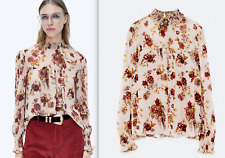 AUTHENTIC ZARA ROMANTIC EMBROIDERED BLOUSE TOP SHIRT XS S M L XL XXL NEW