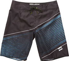 Billabong Resistance Mid Length Board Shorts in Black
