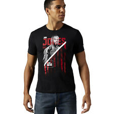 Reebok UFC Jon Bones Jones Fighter Tee Men's Sports T-shirt MMA Shirt Jersey