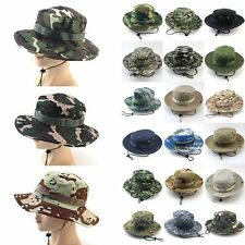 Mens Military Army Tactical Outoor Sniper Cap Boonie Bucket Wild Hunting Hats