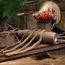 2-60Metres Natural Jute Hessian Rope Cord Braided Twisted Boating Sash Garden