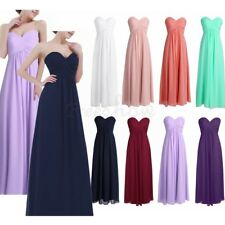Women Chiffon Tulle Evening Formal Party Ball Gown Prom Bridesmaid Long Dress