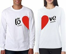 Full Sleeves Love Create Miracle Hot Sexy For Lover Couple T-Shirt