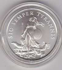 SIC SEMPER TYRANNIS 2013 ONE TROY OUNCE 999 SILVER ROUND IN CAPSULE