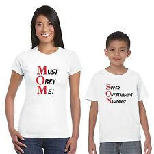 M.O.M. S.O.N. Mom and Son T-shirts set of 2