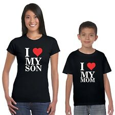 I Love Mom and Son T-shirts Set of 2
