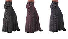 NEW LADIES POLKA DOT PALAZZO TROUSERS SPOTTED WIDE LEG WOMEN PANTS SIZE 8-16
