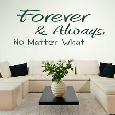 FOREVER AND ALWAYS decal wall art sticker quote transfer stencil graphic DAQ26