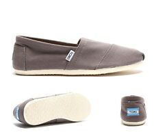 Mens Toms Classic Slip On Ash Grey Shoes