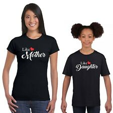 Like Mother Like Daughter Mom and Daughter Tshirts Set of 2