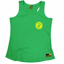 Yellow Weight Plate Breast Pocket SWPS WOMENS DRY FIT VEST birthday gym training