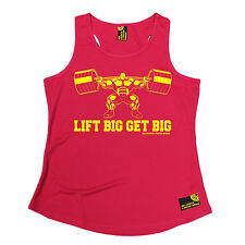 Lift Big Get Big SWPS WOMENS DRY FIT VEST birthday gift gym training fitness