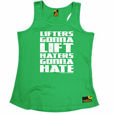 Lifters Gonna Lift Haters Gonna Hate SWPS WOMENS DRY FIT VEST birthday gift gym