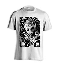 GROOT SPACE GUARDIANS OF THE GALAXY 2 BABY GROOT WHITE T-SHIRT
