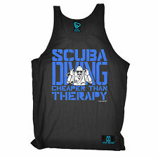 Scuba Diving Cheaper Than Therapy Open Water UNISEX VEST birthday gift dive
