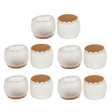 10 Chair Leg Caps Feet Pads Furniture Table Covers Floor Protectors Silicone