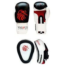Boxing Gloves & Focus Pad's Fight MMA Punch Sparring Training Pro Muay Thai UFC