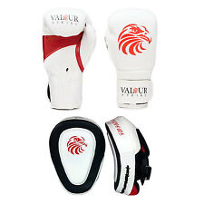 Pro Boxing Gloves Focus Pad's 4oz - 16oz Punch Bag Sparring Fight MMA Muay Thai