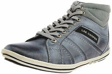 Lee Cooper Grey Leather Casual Sneakers