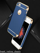 Luxury Chrome Plated 3 in 1 protect hard plastic cover case For iphone 5 5s 5Se