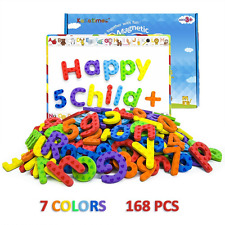 KAKATIMES 168PCS Magnetic Letters and Numbers, ABC Alphabet Magnets for Kids Gif