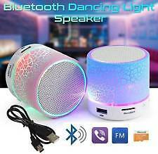 PORTABLE MINI BLUETOOTH SPEAKER WITH USB AUX MICRO SD SLOT WITH LED LIGHTS