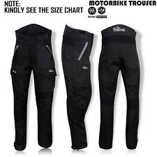 Mens Motorcycle Trouser Cordura Waterproof Textile Motorbike Pants Black-297