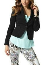 Blazer Laura Scott Taille 34,36,38,40 Veste Femme Noir De Costume Stretch Court