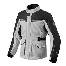Rev'it! Enterprise Moto Tex Chaqueta Negro Plata REV it Revit Todos Los Tamaños